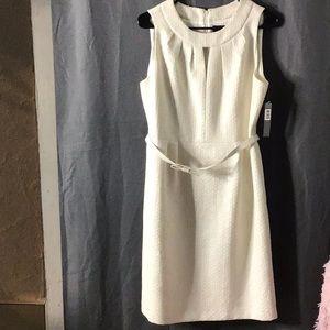 NWT TAHARI Cream Dress